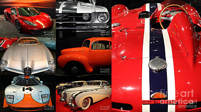 Unique And Eclectic Classic Cars Fine Art And Photography Wall Art Home And Office Decor Poster by Wingsdomain Art and Photography