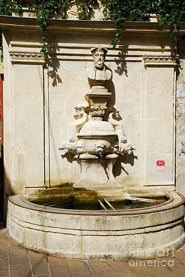 Nostradamus Fountain In Saint Remy De Provence France Poster