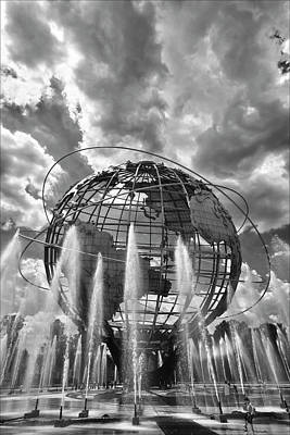 Unisphere And Fountains Flushing Meadow Park Nyc Poster by Robert Ullmann
