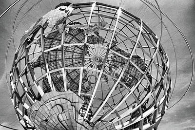 Unisphere In Black And White Poster