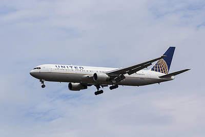 United Airlines Boeing 767 Poster