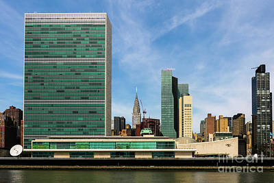 United Nations Skyline Poster by Thomas Marchessault