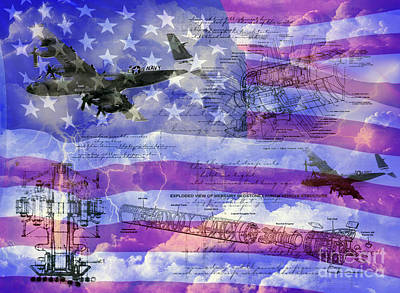 United States Armed Forces One Poster by Ken Frischkorn