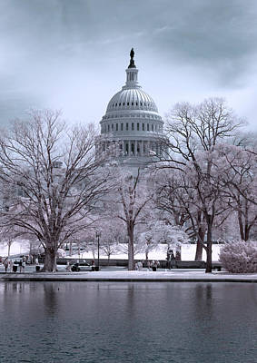 Poster featuring the photograph United States Capitol by Ryan Shapiro