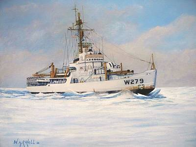 United States Coast Guard Icebreaker Eastwind Poster by William H RaVell III