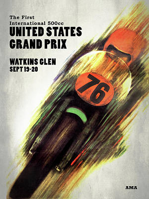 United States Grand Prix Poster by Mark Rogan