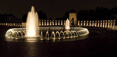 United States National World War II Memorial In Washington Dc Poster by Brendan Reals