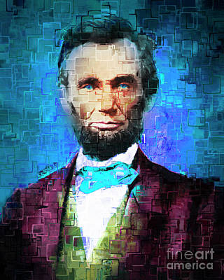 United States President Abraham Lincoln 20170325 Poster by Wingsdomain Art and Photography