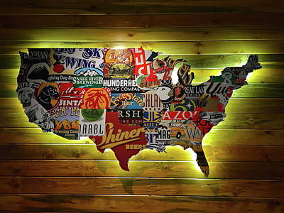 United States Wall Art Poster