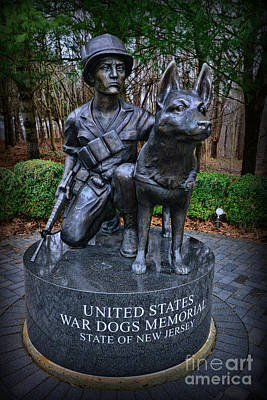 United States War Dog Memorial Poster by Paul Ward