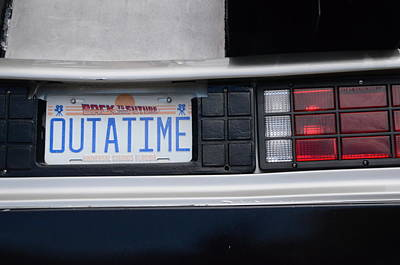 Outatime Plates Poster by Luke Pickard