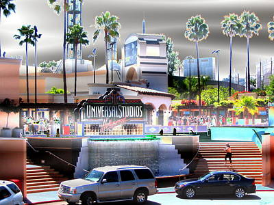 Universal Studios Hollywoodized Poster Poster by Abstract Angel Artist Stephen K