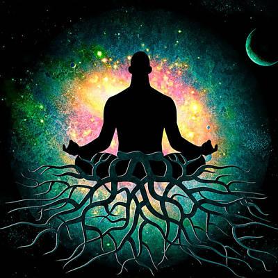 Kosmic Spiritual Grounding Poster