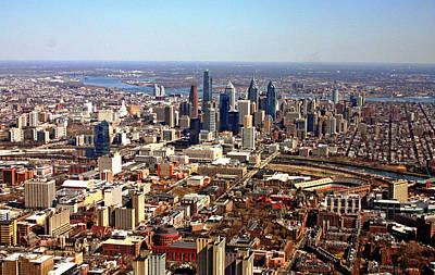 University City Philadelphia Skyline Aerial Poster by Duncan Pearson