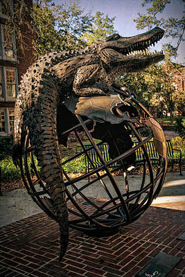 Poster featuring the photograph University Of Florida Sculpture by Joan Carroll
