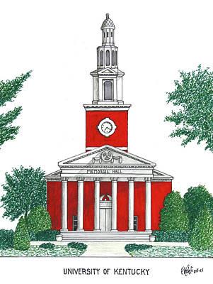 University Of Kentucky Poster by Frederic Kohli