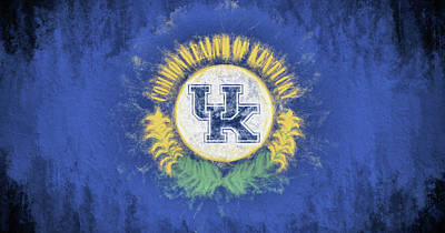 University Of Kentucky State Flag Poster