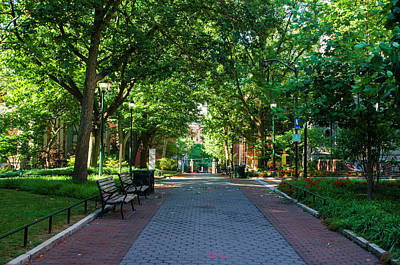 Poster featuring the photograph University Of Pennsylvania Campus - Philadelphia by Bill Cannon
