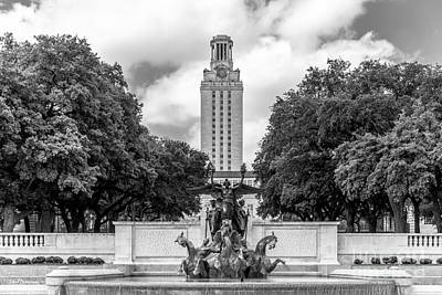 University Of Texas Austin Littlefield Fountain Poster by University Icons