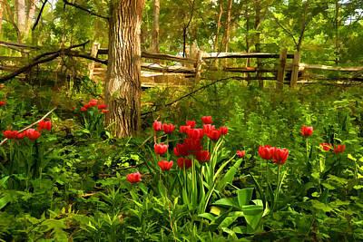 Untamed Tulip Forest - Impressions Of Spring Poster by Georgia Mizuleva