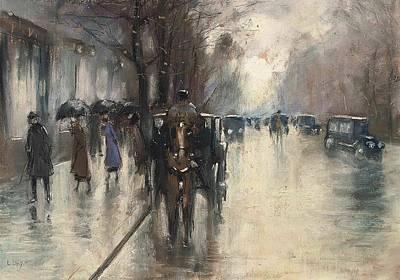 Unter Den Linden Im Regen Poster by MotionAge Designs