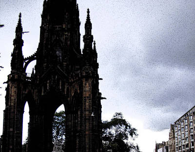 Poster featuring the photograph The Scott Monument by Janelle Dey