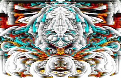 Poster featuring the digital art 992.042212mirrorornategoldvert-2-c by Kris Haas