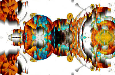 Poster featuring the digital art Untitled Series 992.042212 -b by Kris Haas
