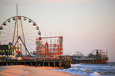 Funtown And Casino Amusement Pier In Seaside Park And Seaside Heights Nj Poster by Bob Cuthbert