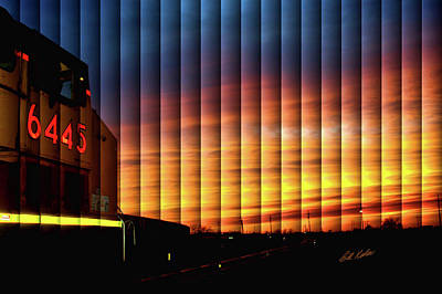 Up 6445 Sunset - The Slat Collection Poster
