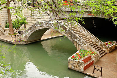 Poster featuring the photograph Up And Over - San Antonio River Walk by Art Block Collections