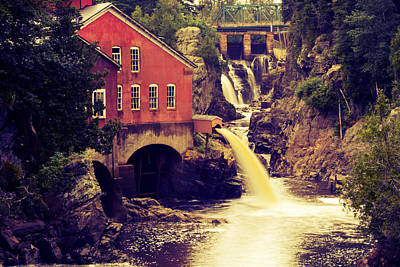 Up River At The Old Mill Poster by Carol Hathaway