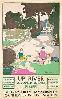 Up River Poster by George Sheringham