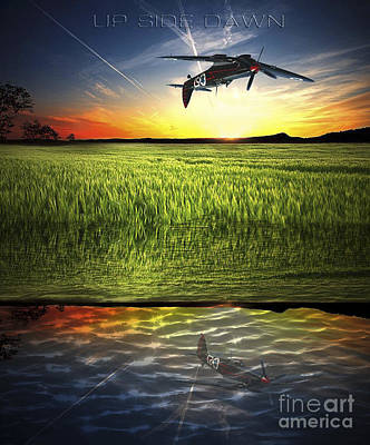 Poster featuring the digital art Up Side Dawn by Amos Dor