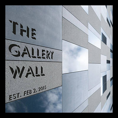 Poster featuring the photograph Up The Wall-the Gallery Wall Logo by Wendy Wilton