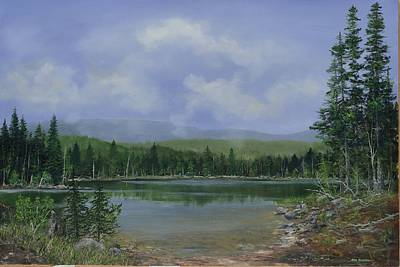 Poster featuring the painting Upland Lake by Ken Ahlering