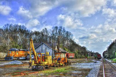 The Upkeep Railroad Track Maintenance Equipment Art Poster