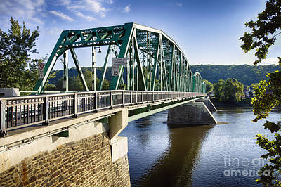 Upper Black Eddy Milford   Bridge Over The Delaware River Poster by George Oze