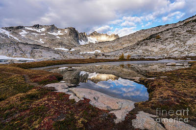 Upper Enchantments Clouds Reflected Poster