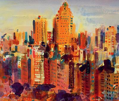Upper Manhattan Poster by Peter Graham