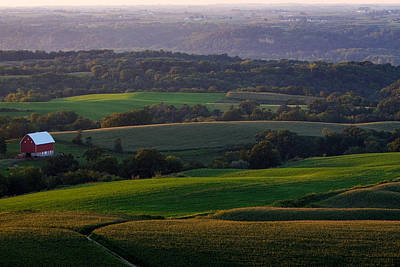 Upper Mississippi River Valley Hills Poster