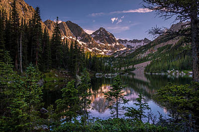 Upper Slate Lake Evening Glow Poster