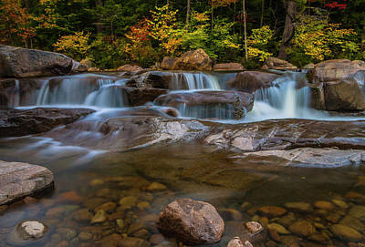 Poster featuring the photograph Upper Swift River Falls In White Mountains New Hampshire by Ranjay Mitra