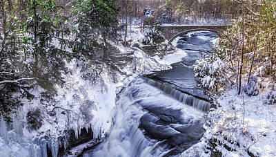 Upper Taughannock Winter Poster by Mark Papke