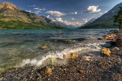 Upper Waterton Shoreline Poster by Mark Kiver