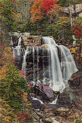 Upper Whitewater Falls North Carolina Poster by Bellesouth Studio