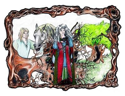 Uprooted Forest Druids Poster by Janice Moore