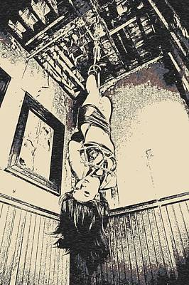 Upside Down - Girl In Bondage Poster
