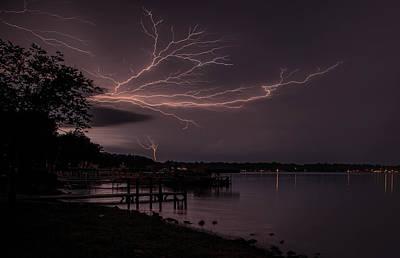 Upward Lightning Poster