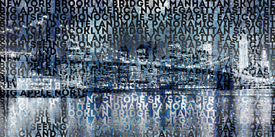 Urban-art Nyc Brooklyn Bridge I Poster by Melanie Viola